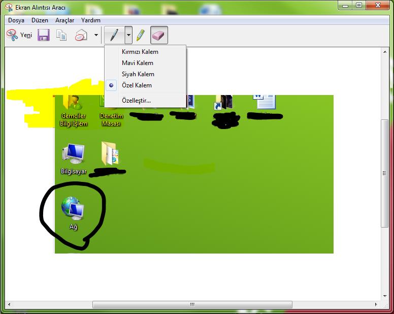 ekran görüntüsü almak windows 10
