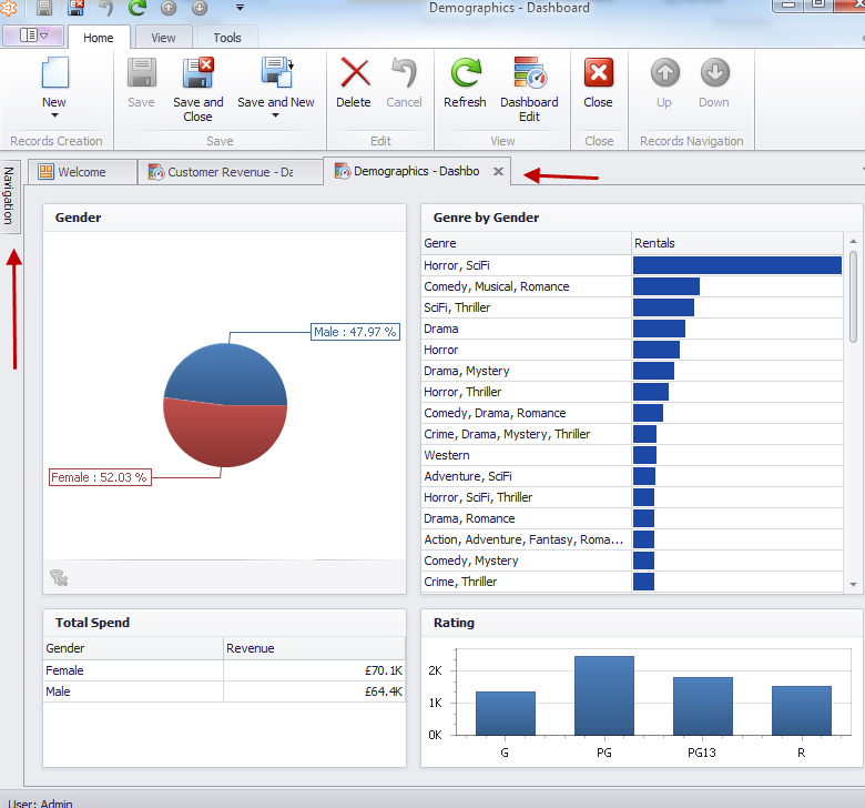 c# devexpress application menu