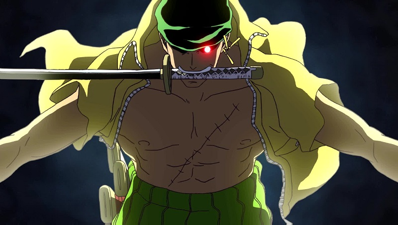 zoro cursed red eye