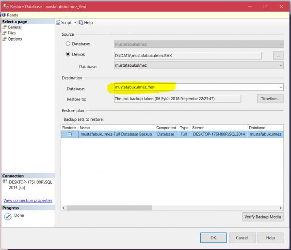 sql server restore database 4