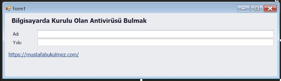 C# Kurulu Antivirüsü Kontrol Etmek