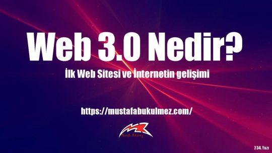WEB 3.0 Nedir? İnternet Teknolojileri