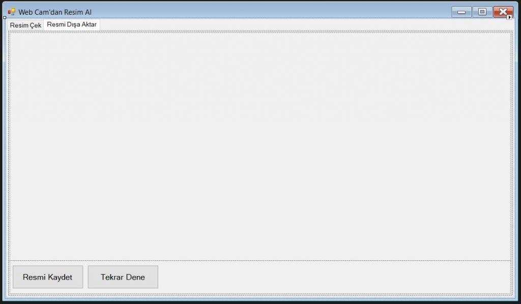 C# Web Cam İle Fotoğraf Çekme 2