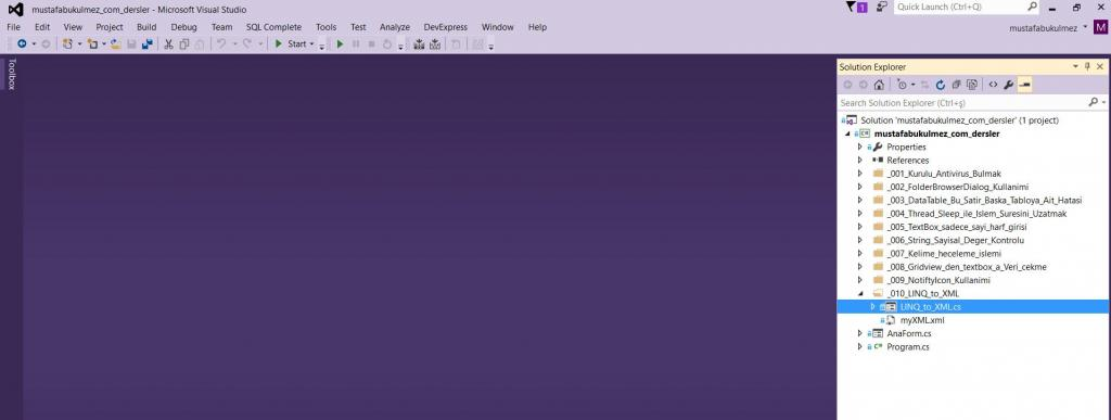 VS 2015 purple color theme