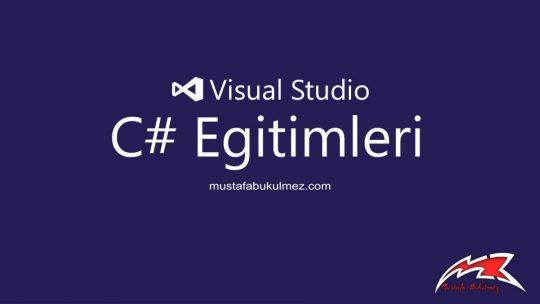 C# Çalışma Zamanında App.Config ConnectionString Değiştirme