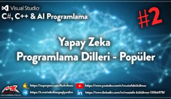 Yapay Zeka Programlama Dilleri - Popüler