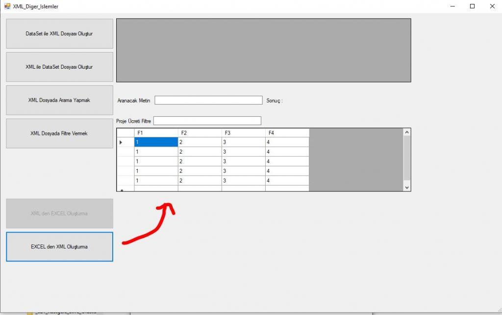 C# Excel'den XML Dosyası Nasıl Oluşturulur