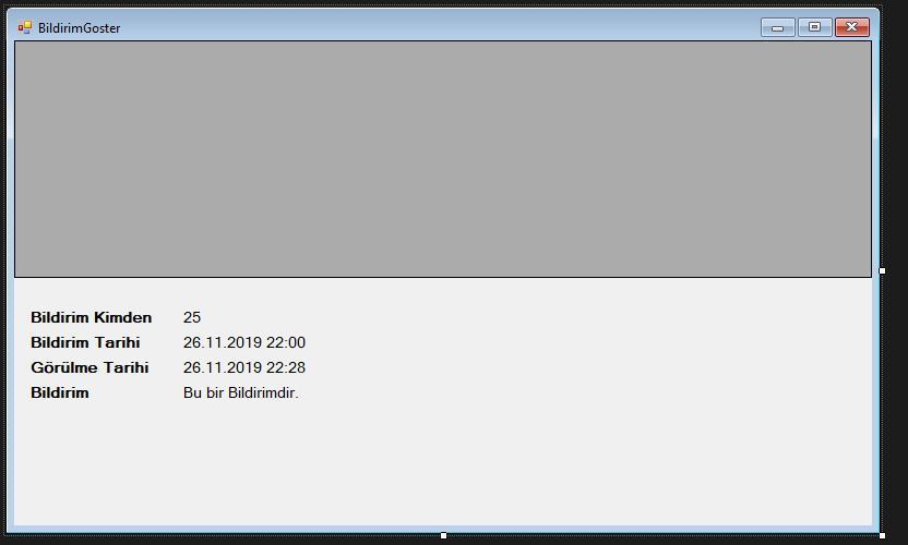 C# Bildirim Sistemi ekran görüntüsü