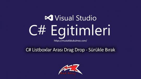 C# Listboxlar Arası Drag Drop – Sürükle Bırak