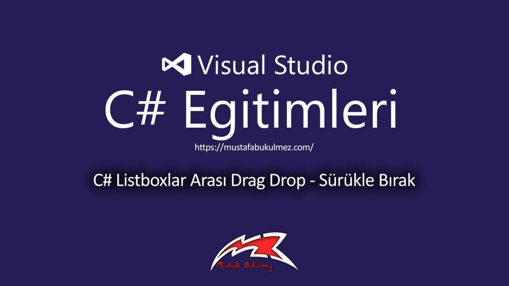 C# Listboxlar Arası Drag Drop - Sürükle Bırak