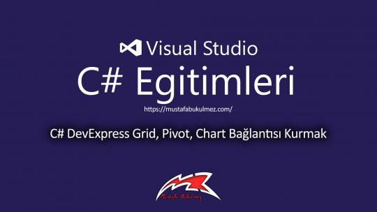 C# DevExpress Grid, Pivot, Chart Bağlantısı Kurmak