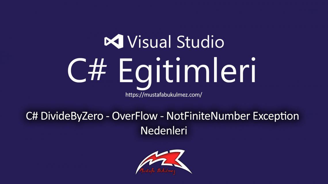 C# DivideByZero - OverFlow - NotFiniteNumber Exception Nedenleri