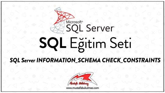 SQL Server INFORMATION_SCHEMA CHECK_CONSTRAINTS