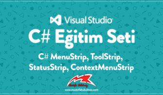 C# MenuStrip, ToolStrip, StatusStrip, ContextMenuStrip