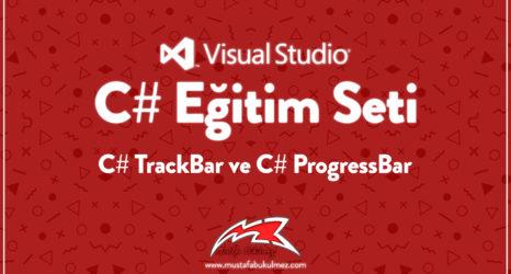 C# TrackBar ve C# ProgressBar