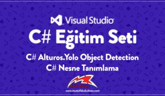 C# Alturos.Yolo Object Detection – C# Nesne Tanımlama
