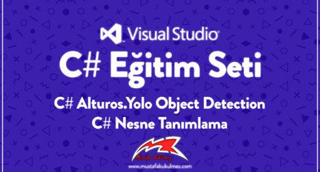 C# Alturos.Yolo Object Detection - C# Nesne Tanımlama