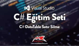 C# DataTable Satır Silme