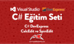 C# DevExpress CalcEdit ve SpinEdit