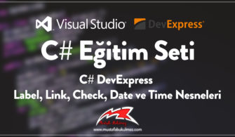 C# DevExpress Label, Link, Check, Date ve Time Nesneleri
