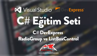 C# DevExpress RadioGroup ve ListBoxControl