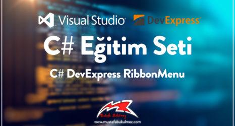 C# DevExpress RibbonMenu