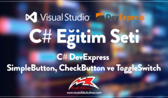 C# DevExpress SimpleButton, CheckButton ve ToggleSwitch