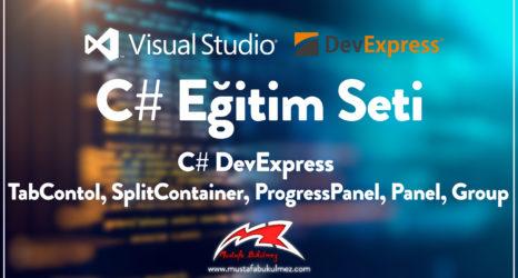 C# DevExpress TabContol, SplitContainer, ProgressPanel, Panel, Group