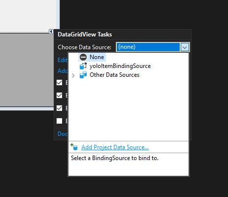 datagridview choose data source