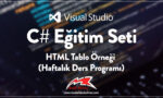 HTML Tablo Örneği (Haftalık Ders Programı)