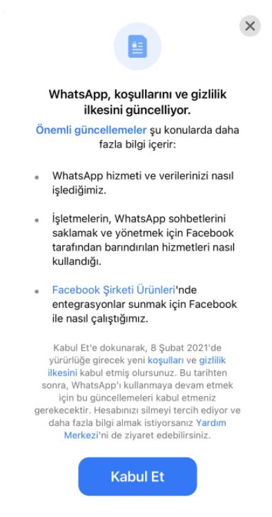 WhatsApp Sorunsalı