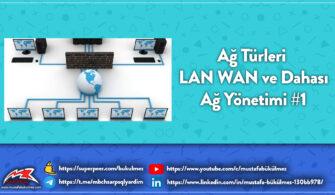 Ağ Türleri - LAN WAN ve Dahası - Ağ Yönetimi #1