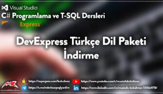 DevExpress Türkçe Dil Paketi İndirme