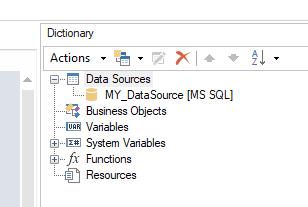 Stimulsoft Report Dictionary