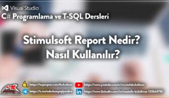 Stimulsoft Report Nedir? Nasıl Kullanılır?